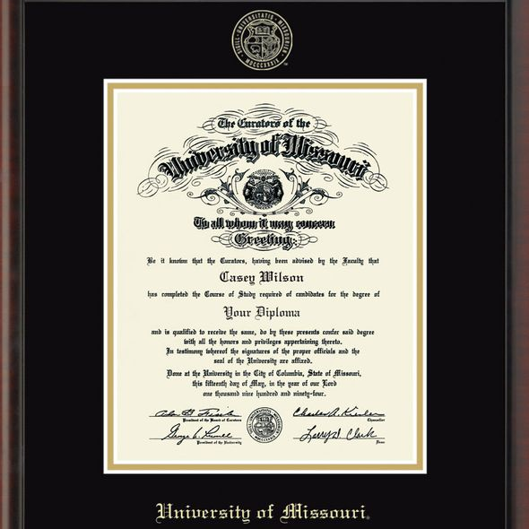 University of Missouri Bachelors/Masters Diploma Frame, the Fidelitas - Image 2