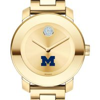 University of Michigan Women's Movado Gold Bold