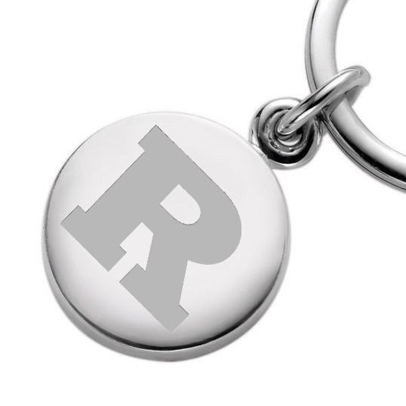 Rutgers University Sterling Silver Insignia Key Ring - Image 2