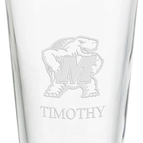 University of Maryland 16 oz Pint Glass - Image 3