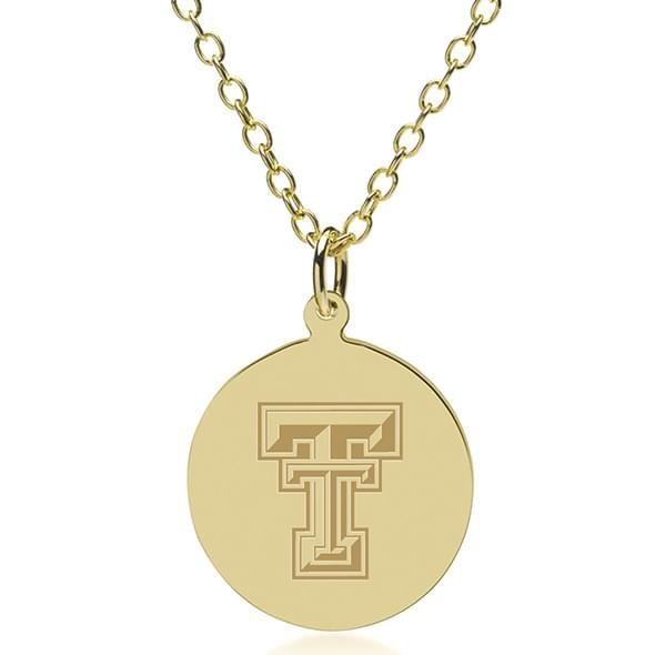 Texas Tech 18K Gold Pendant & Chain