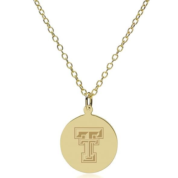 Texas Tech 18K Gold Pendant & Chain - Image 2