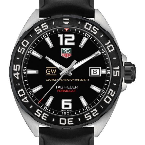 George Washington University Men's TAG Heuer Formula 1 with Black Dial