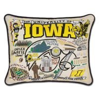 Iowa Embroidered Pillow