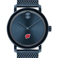 Wisconsin Men's Movado Bold Blue with Mesh Bracelet