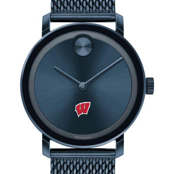 Wisconsin Men's Movado Bold Blue with Mesh Bracelet - Image 1