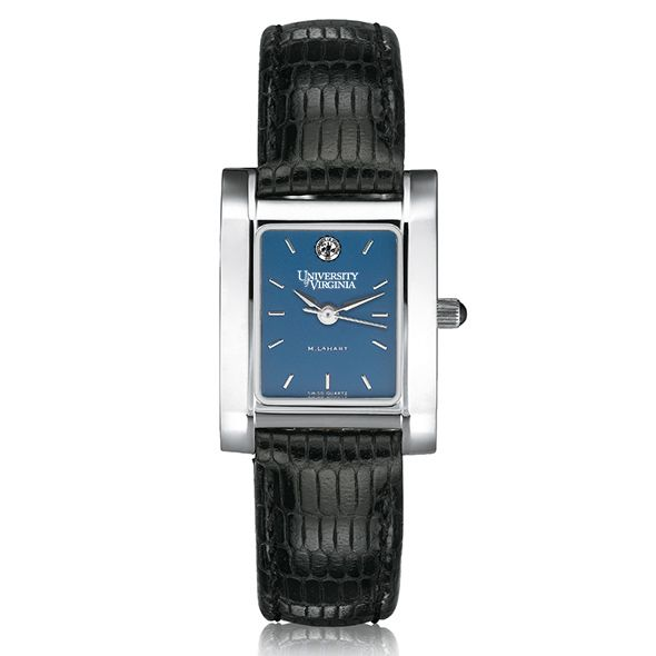 UVA Women's Blue Quad Watch with Leather Strap - Image 2
