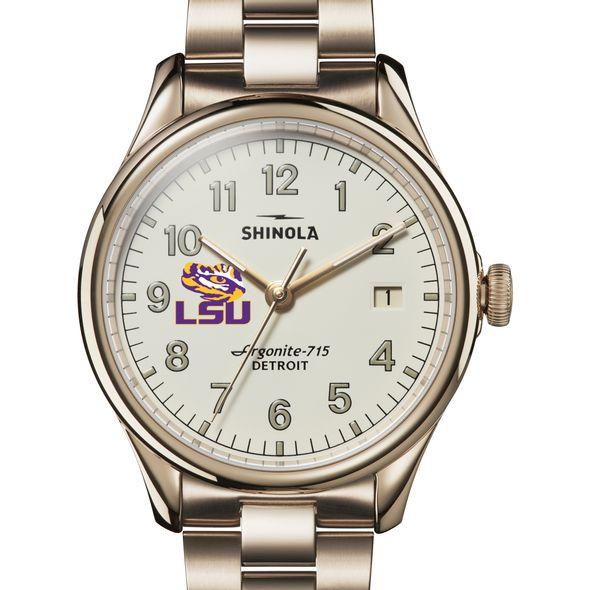 LSU Shinola Watch, The Vinton 38mm Ivory Dial - Image 1