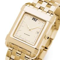 MIT Men's Gold Quad Watch with Bracelet