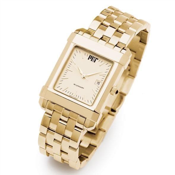 MIT Men's Gold Quad Watch with Bracelet - Image 2