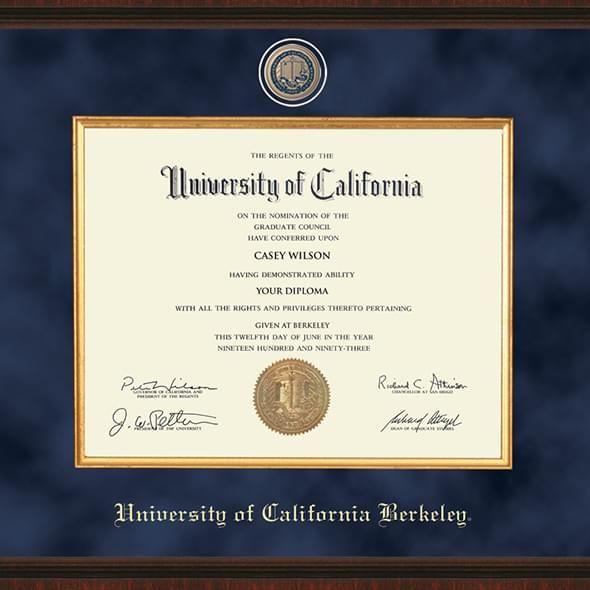 Berkeley Diploma Frame Excelsior Graduation Gift