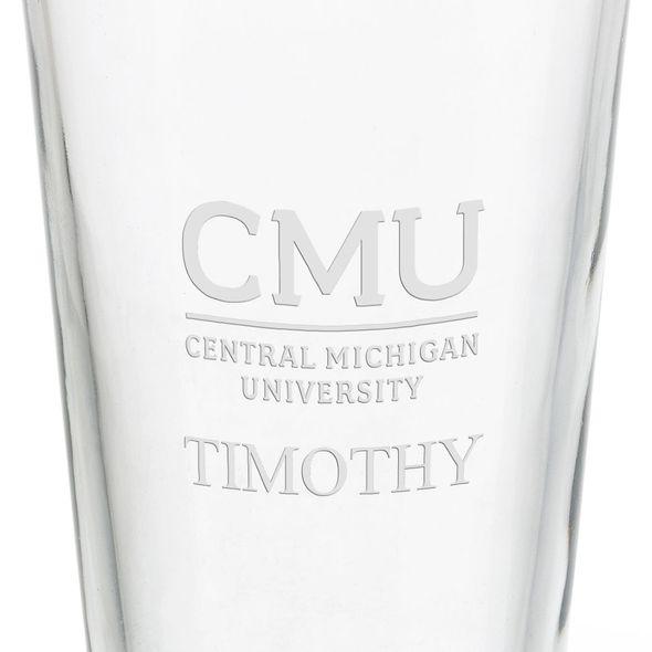 Central Michigan University 16 oz Pint Glass - Image 3