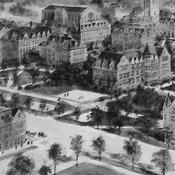 Historic University of Chicago Black and White Print - Image 2