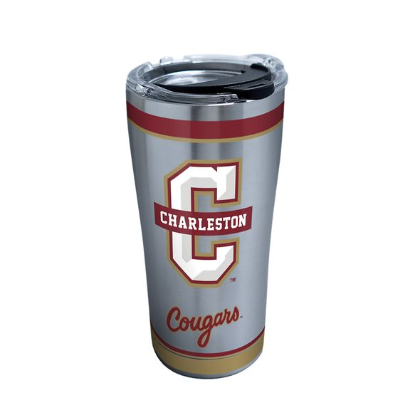 Charleston 20 oz. Stainless Steel Tervis Tumblers with Hammer Lids - Set of 2 - Image 1