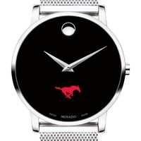 Southern Methodist University Men's Movado Museum with Mesh Bracelet