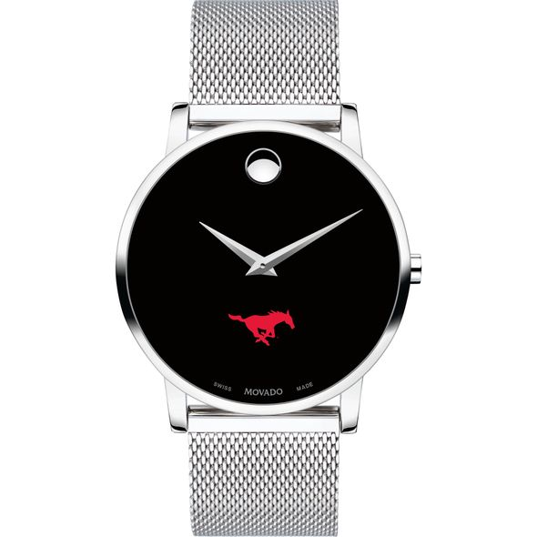 Southern Methodist University Men's Movado Museum with Mesh Bracelet - Image 2