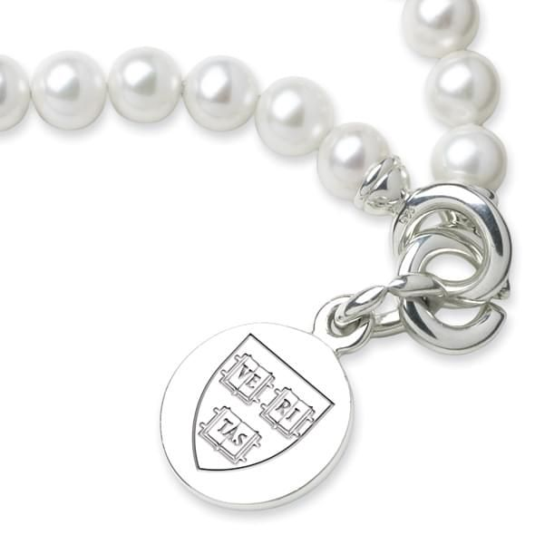 Harvard Pearl Bracelet with Sterling Silver Charm - Image 2