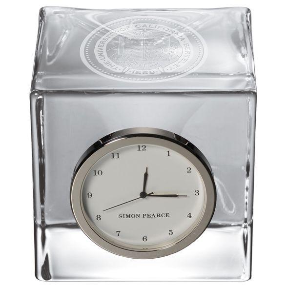 Berkeley Glass Desk Clock by Simon Pearce - Image 2