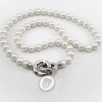 Lehigh Pearl Necklace with Sterling Silver Charm