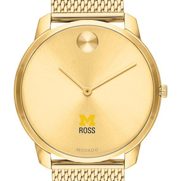 Michigan Ross Men's Movado Bold Gold 42 with Mesh Bracelet - Image 1