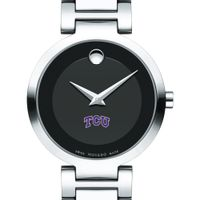 Texas Christian University Women's Movado Museum with Steel Bracelet