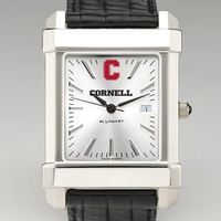 Cornell Men's Collegiate Watch with Leather Strap