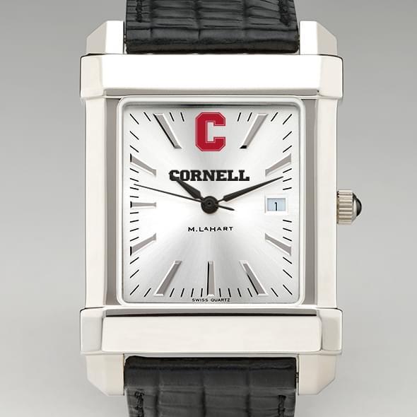 Cornell Men's Collegiate Watch with Leather Strap