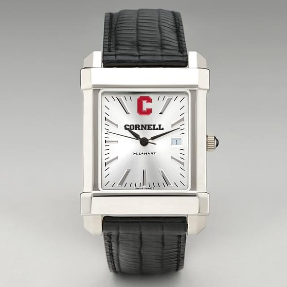 Cornell Men's Collegiate Watch with Leather Strap - Image 2