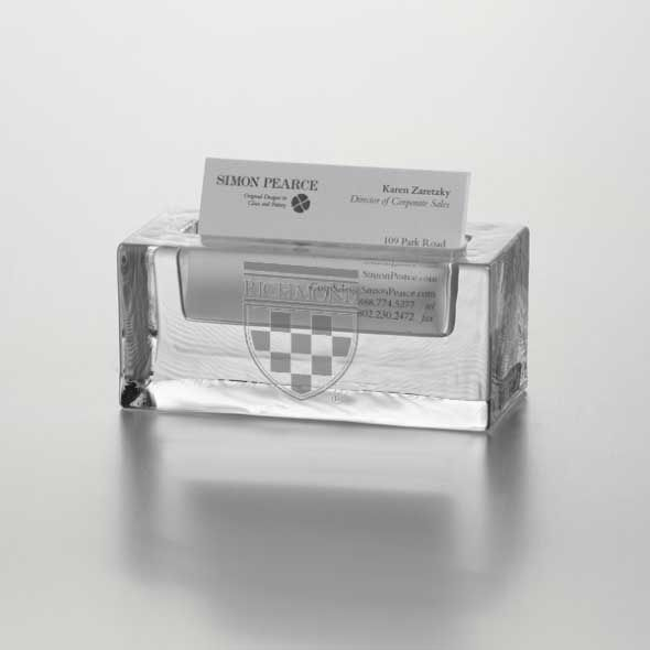 University of Richmond Glass Business Cardholder by Simon Pearce