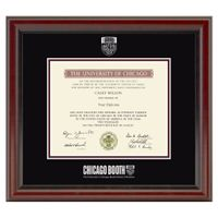 Chicago Booth Diploma Frame, the Fidelitas