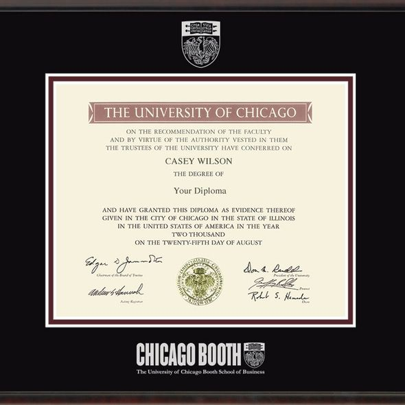 Chicago Booth Diploma Frame, the Fidelitas - Image 2