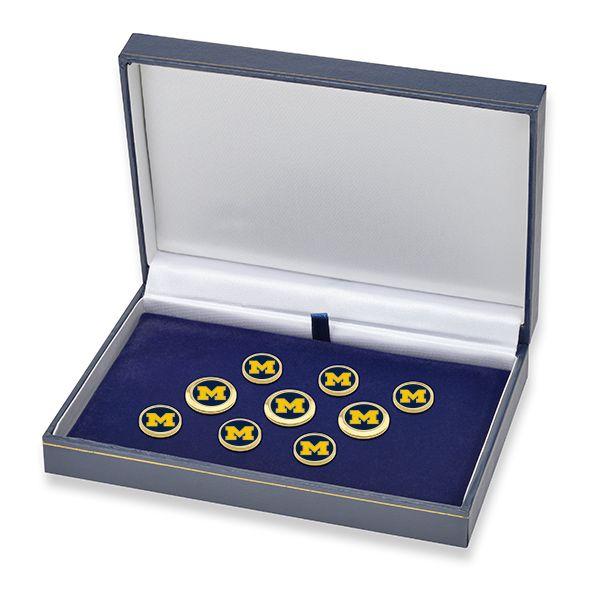 University of Michigan Enamel Blazer Buttons - Image 2