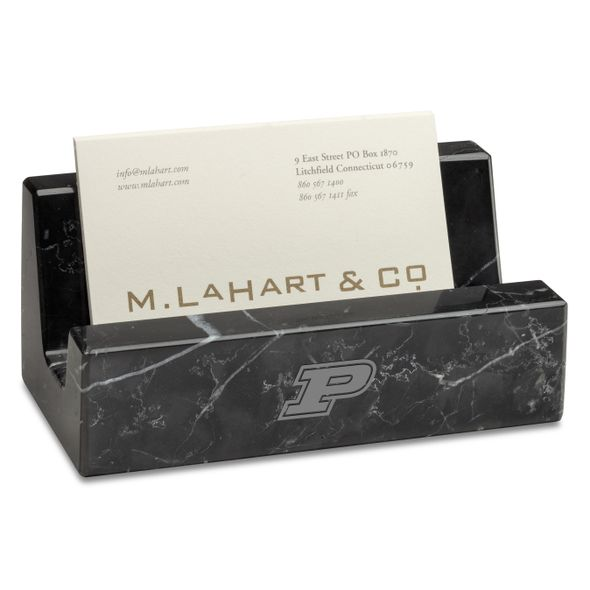 Purdue Marble Business Card Holder