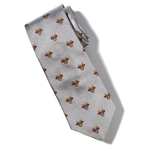 West Point Insignia Tie In Gray By M Lahart