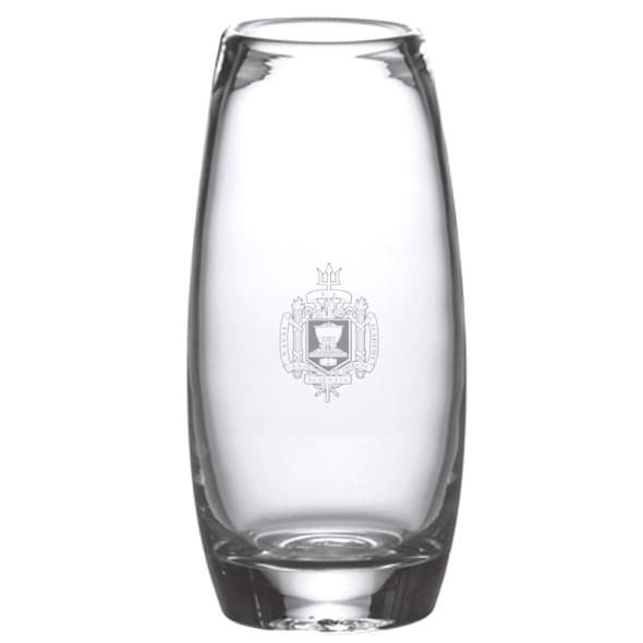 Naval Academy Glass Addison Vase by Simon Pearce