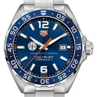 University of Virginia Men's TAG Heuer Formula 1 with Blue Dial & Bezel