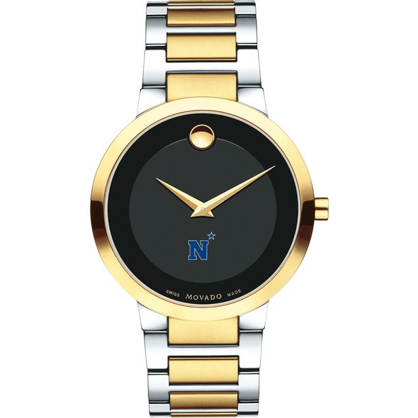 US Naval Academy Men's Movado Two-Tone Modern Classic Museum with Bracelet - Image 2