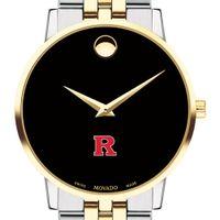 Rutgers Men's Movado Two-Tone Museum Classic Bracelet