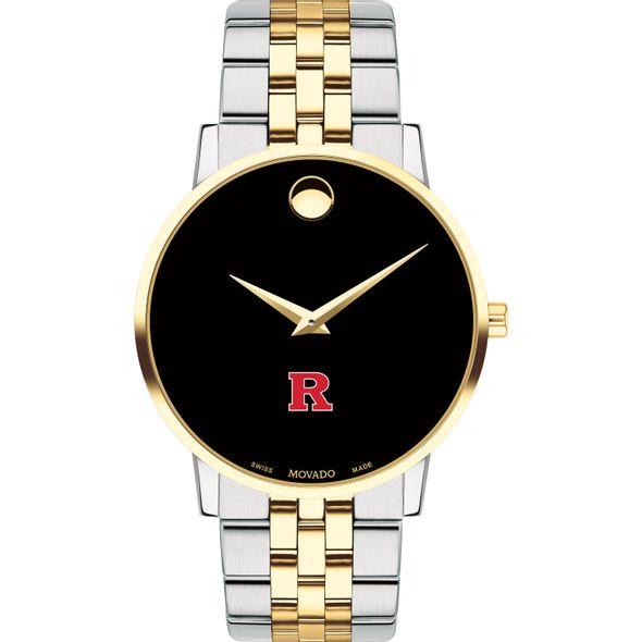 Rutgers Men's Movado Two-Tone Museum Classic Bracelet - Image 2