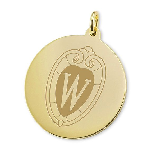 Wisconsin 14K Gold Charm - Image 1
