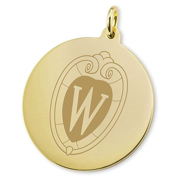 Wisconsin 14K Gold Charm - Image 2
