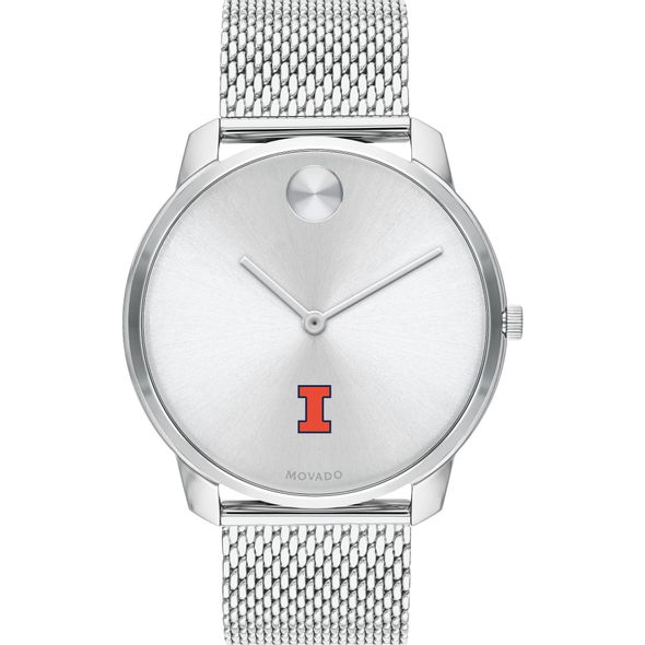 University of Illinois Men's Movado Stainless Bold 42 - Image 2