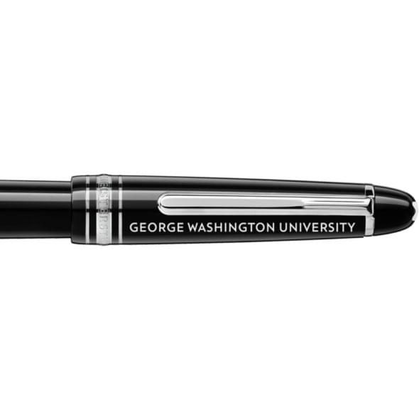 George Washington University Montblanc Meisterstück Classique Fountain Pen in Platinum - Image 2