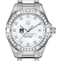 Marquette W's TAG Heuer Steel Aquaracer with MOP Dia Dial & Bezel