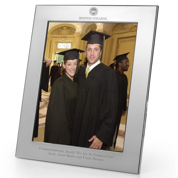 Boston College Polished Pewter 8x10 Picture Frame - Image 2