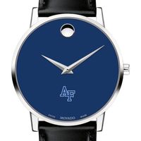 US Air Force Academy Men's Movado Museum with Blue Dial & Leather Strap