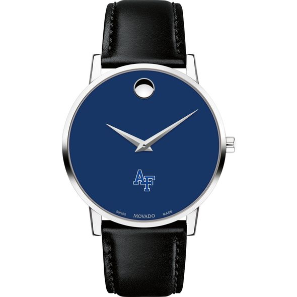 US Air Force Academy Men's Movado Museum with Blue Dial & Leather Strap - Image 2