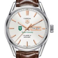 Tulane University Men's TAG Heuer Day/Date Carrera with Silver Dial & Strap