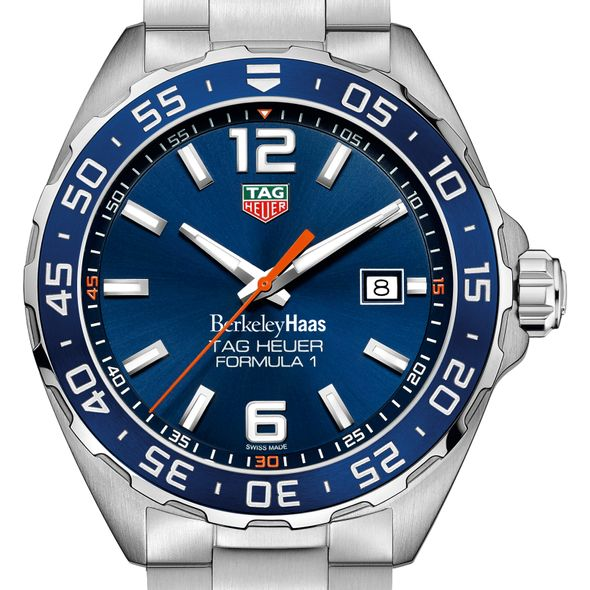 Berkeley Haas Men's TAG Heuer Formula 1 with Blue Dial & Bezel