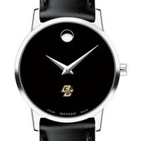 Boston College Women's Movado Museum with Leather Strap
